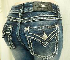 NWT Miss Me Chloe Boot Med Blue Jeans D5014B292V Saddle Stitch Size W30 x L32