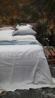 100% Pure Linen French Bed Linen Quilt Cover Linen Duvet linen Sheet Set-White