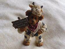 Boyd's Bears Angus Bearger.Quit Yer Béefin!-Boyds Shoe Box Bears #3230