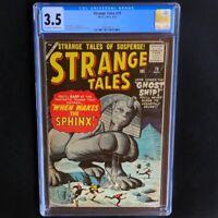Strange Tales #70 (Atlas Comics 1959) 💥 CGC 3.5 💥 Sphinx Cover by Jack Kirby!