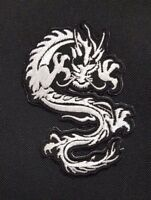 Chines Dragon Patch Large Iron On Embroidered Sew On Jacket Shirt Biker Badge