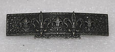 Vintage Hair Barrette Made In France Silver Metal Fleur De Lis Decorative