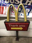 Vintage McDonalds Golden Arches Lighted Sign Drive Thru  Pedestal Light post