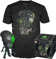 Exclusive Blood Splattered Xenomorph Alien Funko POP Vinyl & T-Shirt New in Box