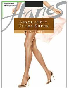 Hanes Absolutely Ultra Sheer Gentle Control Top Reinforced Toe Nylon Pantyhose