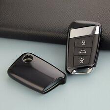 Black Car Key Fob Cover Case For VW Arteon Atlas Passat B8 Skoda Kodiaq Superb