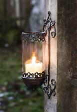 2 x Windlicht Metall Wandkerzenhalter Kerzenhalter Wandleuchter Wand Laterne