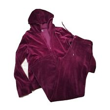 Jones New York Sport Women's Zip Up Jacket & Pant Set ~ Sz XL ~ Burgundy