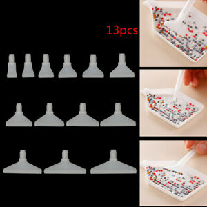 13pcs Replacement Pen Heads for 5D Diamond Painting Cross Stitch Fixing To-^lk