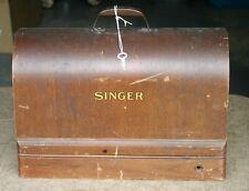 Antique Singer Sewing Machine - Model 128 - With Wooden Case & Key - Nov 1940