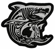 WHITE SHARK- Embroidered Patch-0254