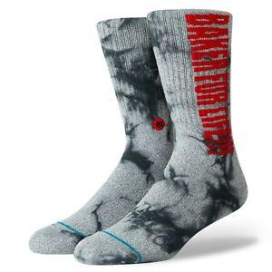 STANCE x BAKER Men's Crew Socks BAKER FOR LIFE - GRY - Large(9-12) - NWT