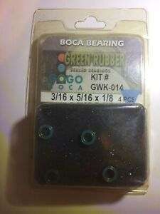 Boca Bearing Sealed Green Rubber Kit# GWK-014 3/16 X 5/16 X 1/8(4 PCS)
