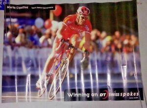 Rare DT Swiss Mario Cipollini Poster Authentic Cycling Bicycle Collectable