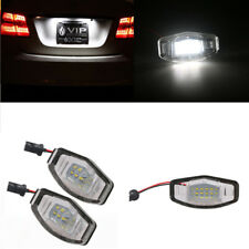 Car LED License Plate Lights White Direct Fit For Acura TL TSX Honda Civic, etc