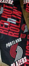 NEW VTG Portland Trail Blazers NBA Necktie Tie Rip City RM Ralph Marlin NWT 90s