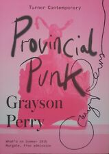 Grayson Perry 'Provincial Punk' exhibition, hand signed programme.