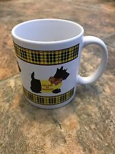 College Of Wooster Scottish Terrier Dog Fighting Scots Plaid Coffee Mug Cup