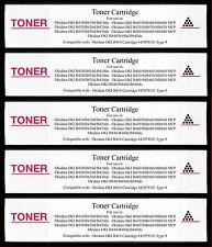 5pk 43979101 Toner Cartridge for Okidata OKI B430 B430d B430dn B440 B440d B440dn