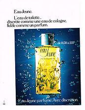 PUBLICITE ADVERTISING 044   1972  EAU De toilette  EAU JEUNE