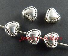 200pcs Tibetan Silver Nice Heart Spacer Beads 5.5x6x4mm 61