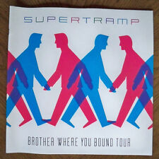 """Supertramp Brother Where You Bound 1985 Tour Program LG 12""""x12"""" 24 Glossy Pages"""