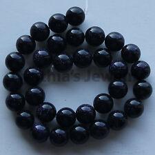 8mm Blue Goldstone Round Loose Beads Gemstone 15/'/' AAAAA+