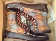 Nuevo 👞 Timberland 👞 UK 7 Authentics 8 in (approx. 20.32 cm) Resistente Cosida a Mano Marrón Zapatos Botas 41EU