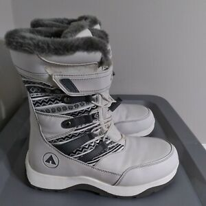 Airwalk Thermolite Insulated Women's Size 8.5 Fur Lined White/Gray Winter Boots