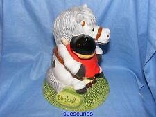 John Beswick Thelwell PONY MONEY BANK / BOX NUOVA jbt9 PONY CLUB REGALO