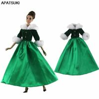 Green Princess 1/6 Doll Accessories Party Dress For Barbie Dolls Clothes Outfits