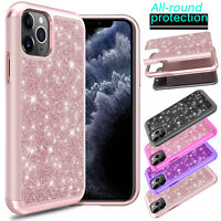 For iPhone 11/11 Pro Max/11 Pro Case Shockproof Hybrid Glitter Bling Phone Cover