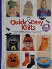 QUICK & EASY KNITS 10 knitting & crochet patterns Halloween hottie cover etc