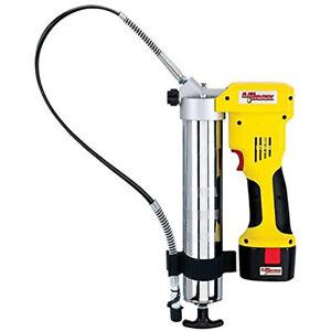 Lumax HandyLuber 12 Volt 7,000 PSI Cordless Handheld Grease Gun with 2 Batteries