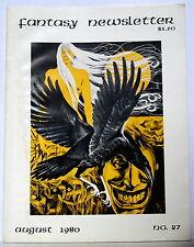 Fantasy Newsletter #27; LONG Frank Belknap Long int.; FRITZ LEIBER! —AUGUST 1980