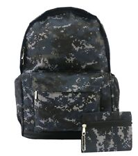 Grey Digi Camouflage Camo Backpack Rucksack School Travel Skull PremEss Bag 003