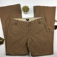 J. Crew Womans Brown City Fit Dress Pants Size 6