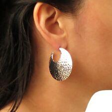 Sterling Silver 925 Circle Drop Earrings