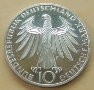 1972 German 10 mark silver proof coin