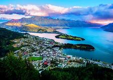 QUEENSTOWN NZ WAKATIPU LAKE NEW A2 CANVAS GICLEE ART PRINT POSTER