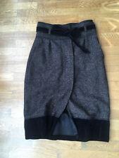 Jupe laine-velour Hugo Boss noire T 36 TBE