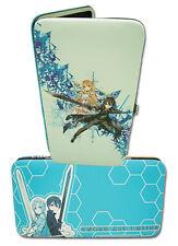 **Legit** Sword Art Online Kirito Asuna Authentic Checkbook Hinge Wallet #61084