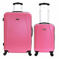 Extra Large Small Cabin Hard Shell Travel Trolley Hand Luggage Suitcase Bag Case Punch Set of 2 (55 & 76 Cm)
