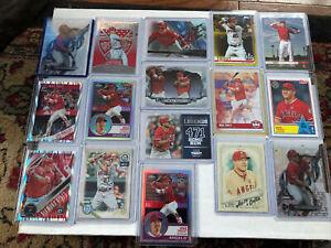Mike Trout Random 16 Card Lot.