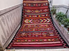 Handmade Vinatge Moroccan Rug Azilal Bebrer Wool Rug Bohemain Carpet