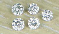 1.5mm 0.07cts 5pc I1 Clarity I-J Color Natural Loose Brilliant Cut Diamond