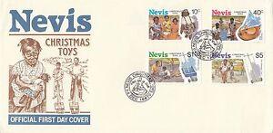 (90359) CLEARANCE Nevis FDC Christmas Toys 1987