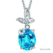 Oval White Gold Fine Diamond Necklaces & Pendants