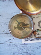 Antique Made in France Brass Pocket Compass