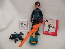 Vintage 1989 Police Academy  Claw figure w/  Mouser Cat  + Copter pack